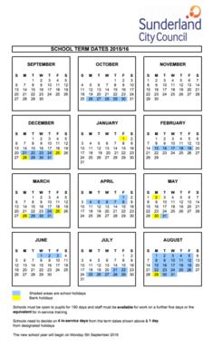 term dates 2015-2016