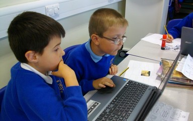 We used the internet to research information about the Ancient Egyptians.