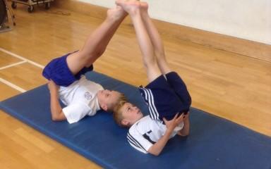 Class 6 show off their gymnastics skills