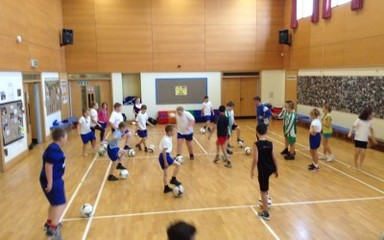 Class 6 working with SAFC Foundation of Light