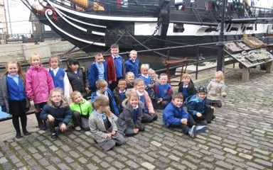 Class 1 visit the HMS Trincomalee!