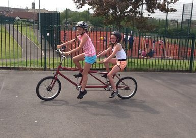 Fantastic fun with bikes!