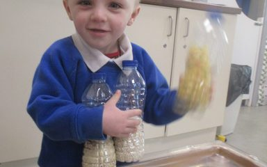 Sensory Play in Little Legs!