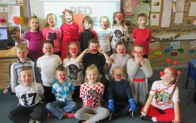 Having fun on Red Nose Day