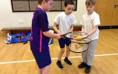 Developing our tennis skills
