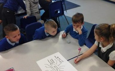 Class 3MB test out their powers of persuasion.