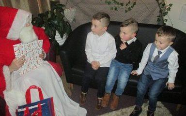 When Santa Claus came to town!