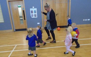 Little Legs first P.E lesson.