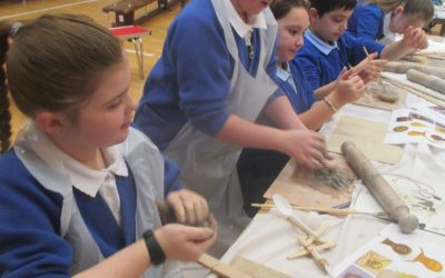 Catapults, clay and creating mosaics