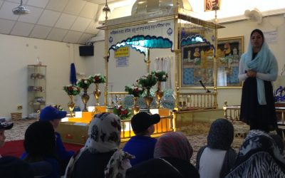 Our visit to the local Gurdwara